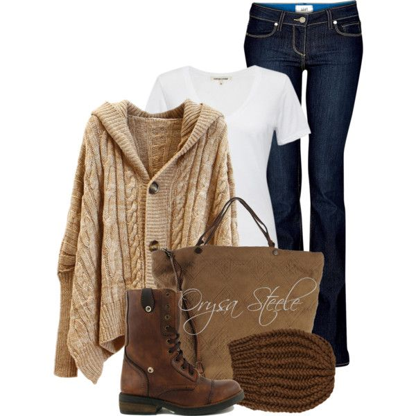 Cinnamon Latte by orysa on Polyvore featuring Cotton Citizen, Paige Denim, Royal Canadian Grizzleez, Caterina Lucchi and Wommelsdorff