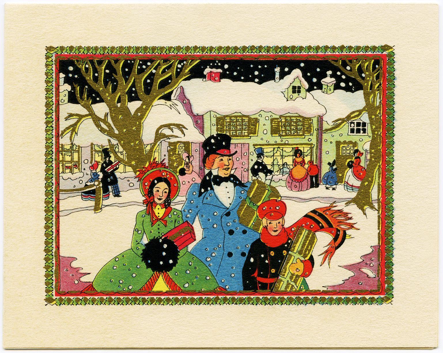 Vintage Christmas Cards Free Digital Vintage Christmas Card
