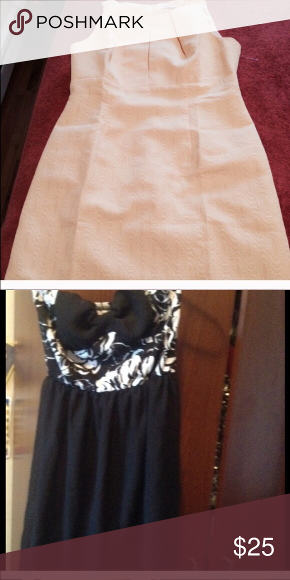 Two dress Easter yellow dress size 8. Black and white dress strapless. Dresses Strapless