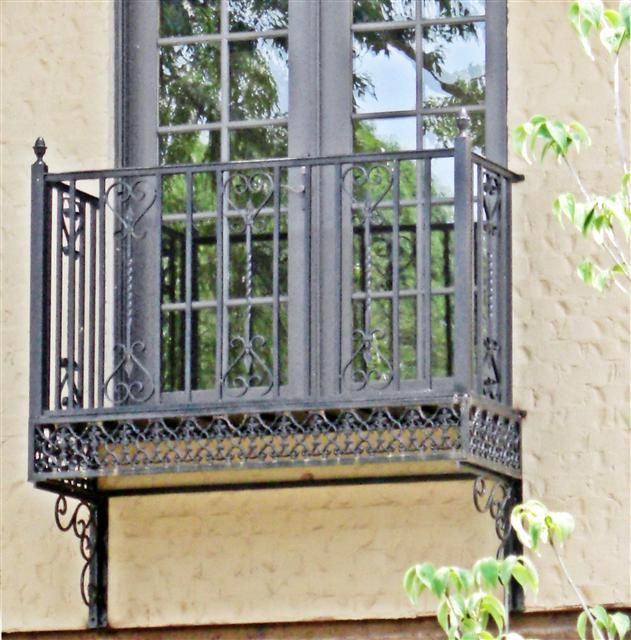 Re-instate Existing Juliette Balcony At The Back Of The