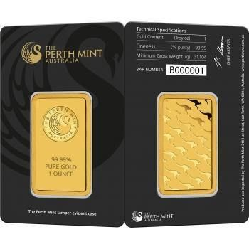 Buy Perth Mint Carded 1 Oz Gold Bars At Texasbullion Com If You Have Questions Or Would Like To Speak With A Sales Associ Gold Bullion Bars Gold Bar Mint Gold