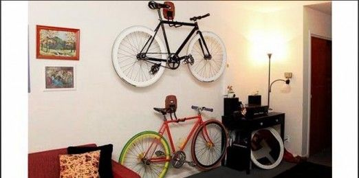 bicycle hanging apartment decorating 522x259 d cors. Black Bedroom Furniture Sets. Home Design Ideas