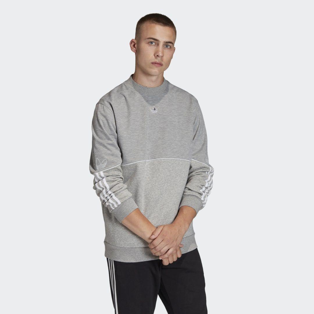 Outline Crewneck Sweatshirt Grey Mens Source By Adidas Womens Tshirt Casual Crew Neck Sweatshirt Long Sleeve Tshirt Men Grey Sweatshirt [ 1080 x 1080 Pixel ]