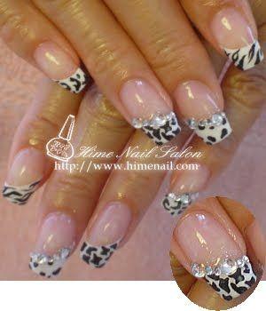 Animal print black and white cow nails - uñas vaca negro y blanco ♛