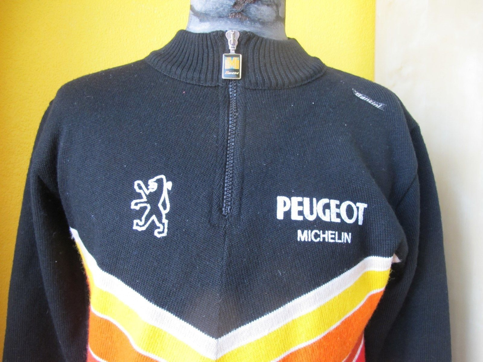 leather pad M size Vintage style Peugeot Michelin cycling shorts merino wool