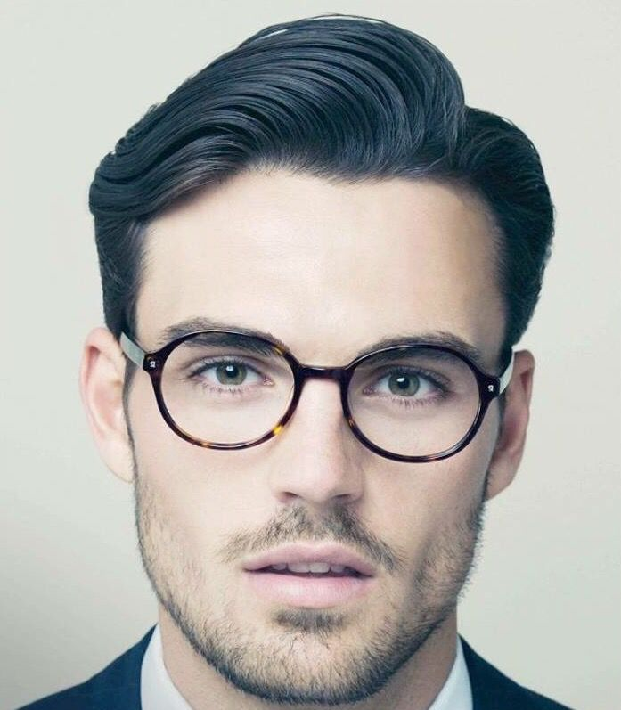 Blue Hair Men Beauty Male Model Glasses YES Pinterest - Mens hairstyle with glasses