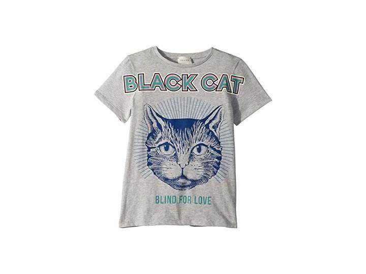 aecdad7a2109 Gucci Kids Black Cat T-Shirt (Little Kids/Big Kids) | Products ...