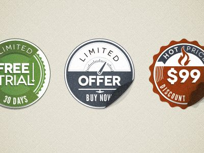 Psd Modern Vintage Stickers Badges Freebie Web Design Freebies Badge Template Design Freebie