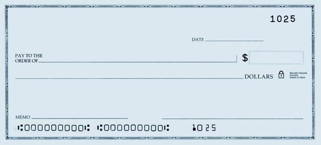 Blank Check Printable Checks Blank Check Business Checks