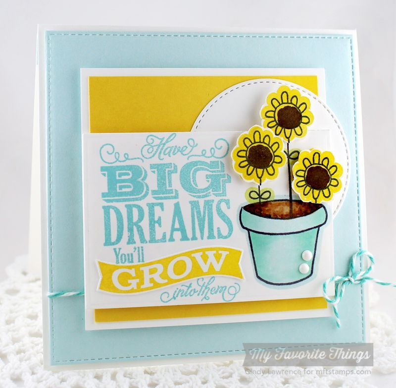 Chalkboard Greetings Too, Spring Has Sprung, Blueprints 8 Die-namics, Stitched Circle STAX Die-namics - Cindy Lawrence #mftstamps