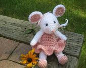 Ballerina Mouse Crochet Stuffed Mouse, Amigurumi Mouse, Ballerina Doll, Toy Mouse