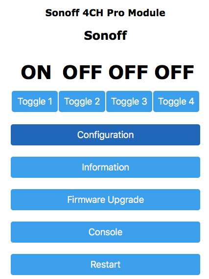 Hack: Sonoff 4CH Pro with firmware MQTT Tasmota, inclusion