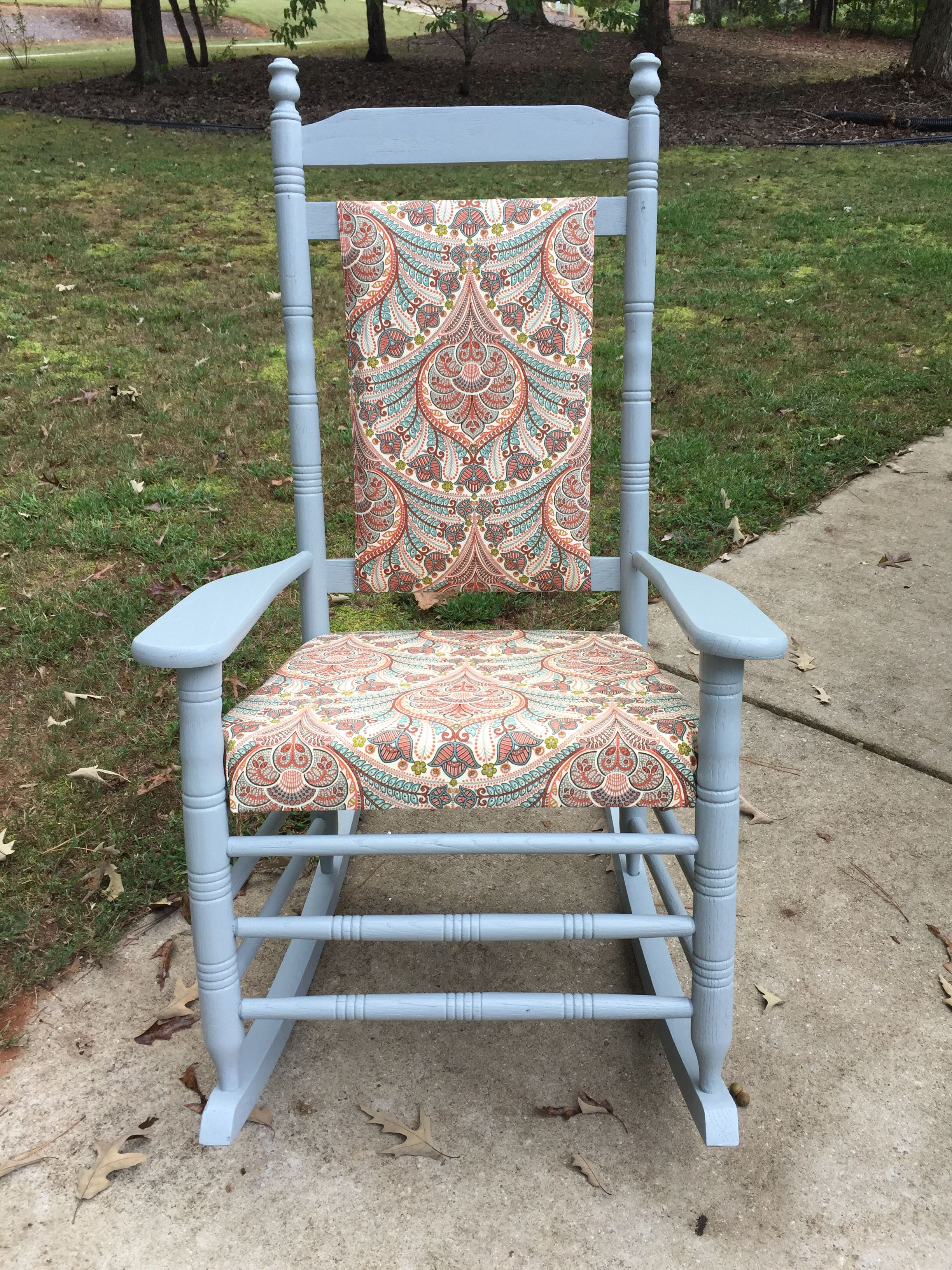 Repurposed Cracker Barrel Rockers Rocking Chair Makeover Chair Makeover Rocking Chair