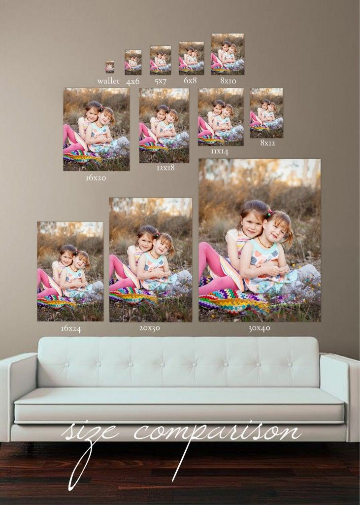 Photo Print Size Comparison Google Search Photo Print Sizes Photo Wall Pictures