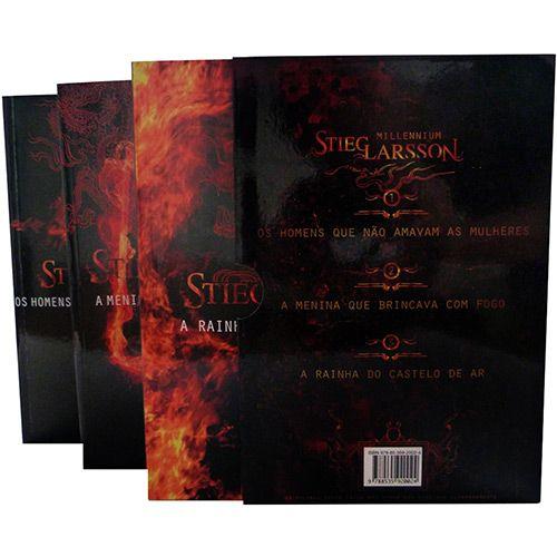 Box Livro Millennium A Trilogia 3 Volumes A Menina Que