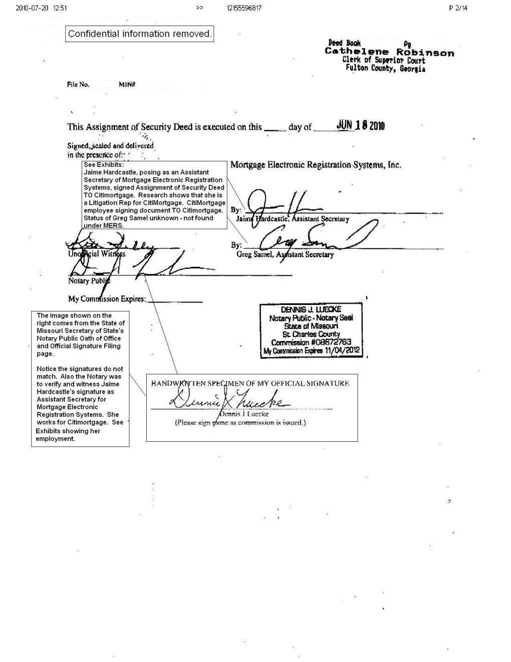 Notary Signature Example Ideal inside Notary Document