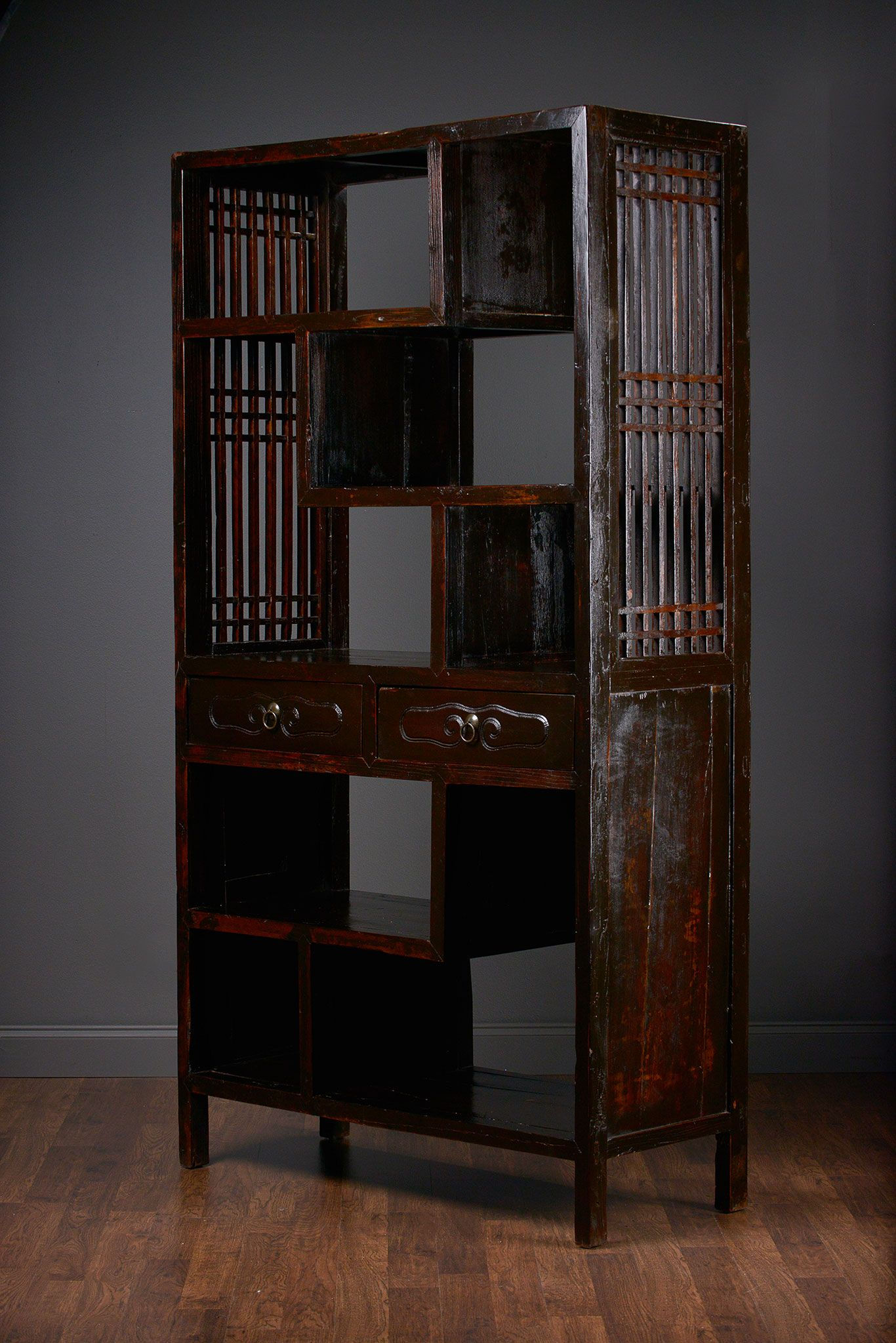 Great Antique Chinese Lacquered #Elm Scholaru0027s #Bookcase At #Houston #Mecox  #interiordesign #