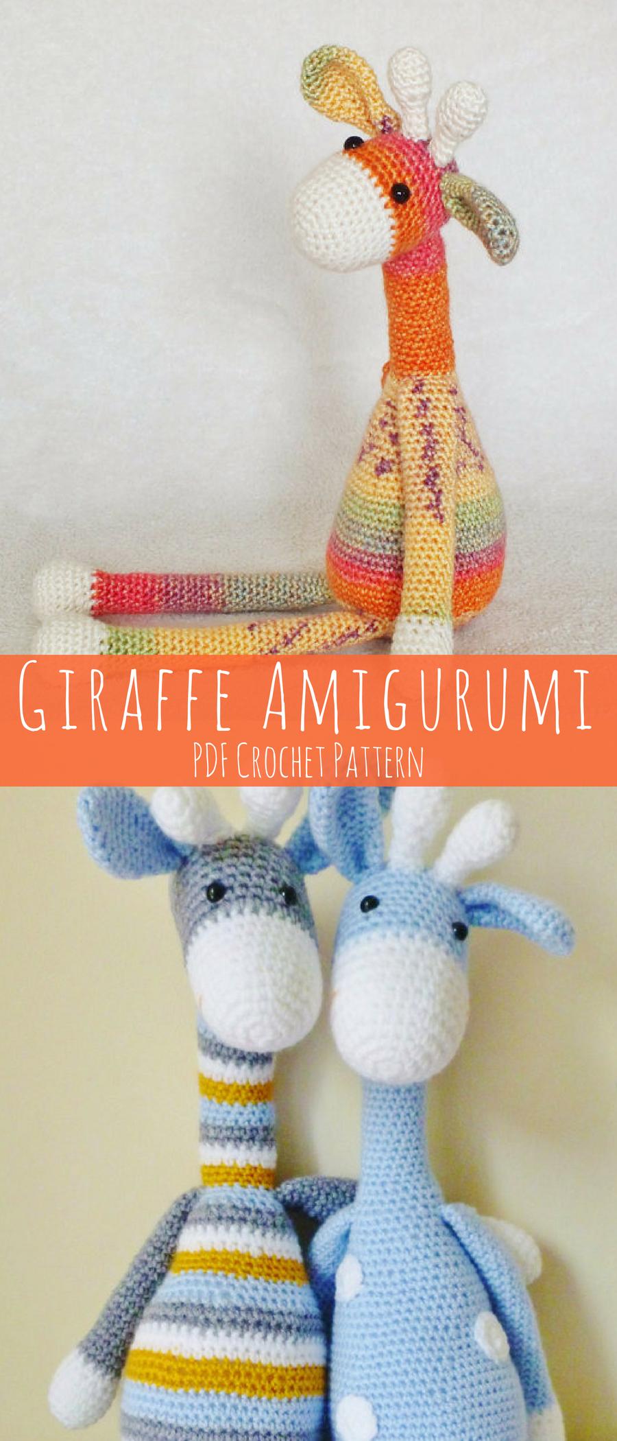 Crochet Giraffe Amigurumi Pattern. Cute Toy Giraffe Gift for a Baby ...