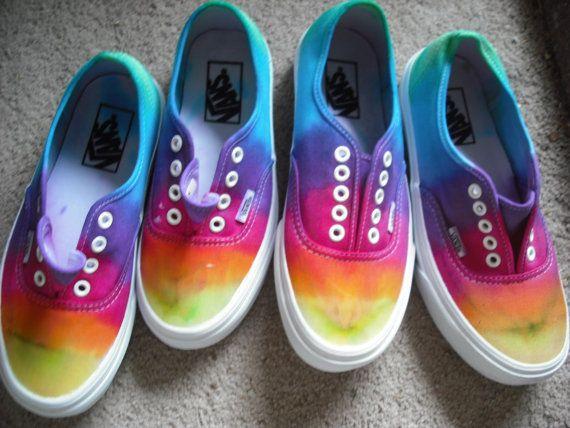 The Original Custom Tie Dye Vans Shoes | fashion | Custom
