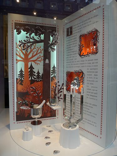 Vitrines de no l christofle paris d cembre 2012 visual merchandising display and window - Vitrine de noel paris ...