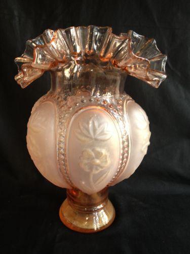 Superbe Vase Ancien En Verre Rose Ebay Vases Pinterest