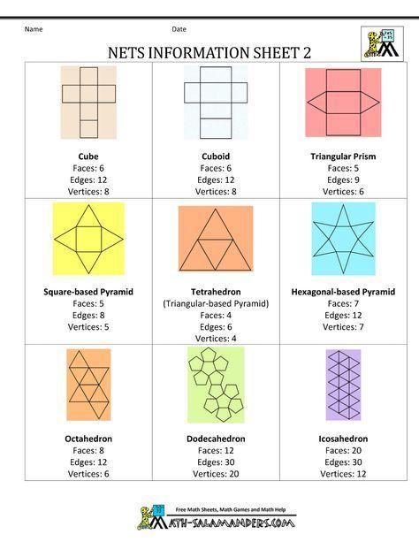 geometry nets information sheet 2 maths active geometry math classroom decorations math school. Black Bedroom Furniture Sets. Home Design Ideas
