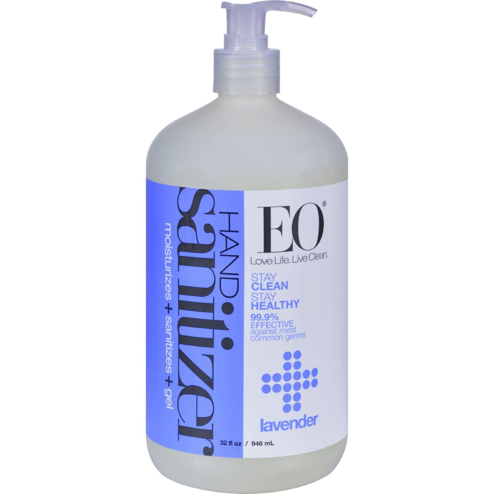 Eo Products Hand Sanitizing Gel Lavender Essential Oil 32 Oz