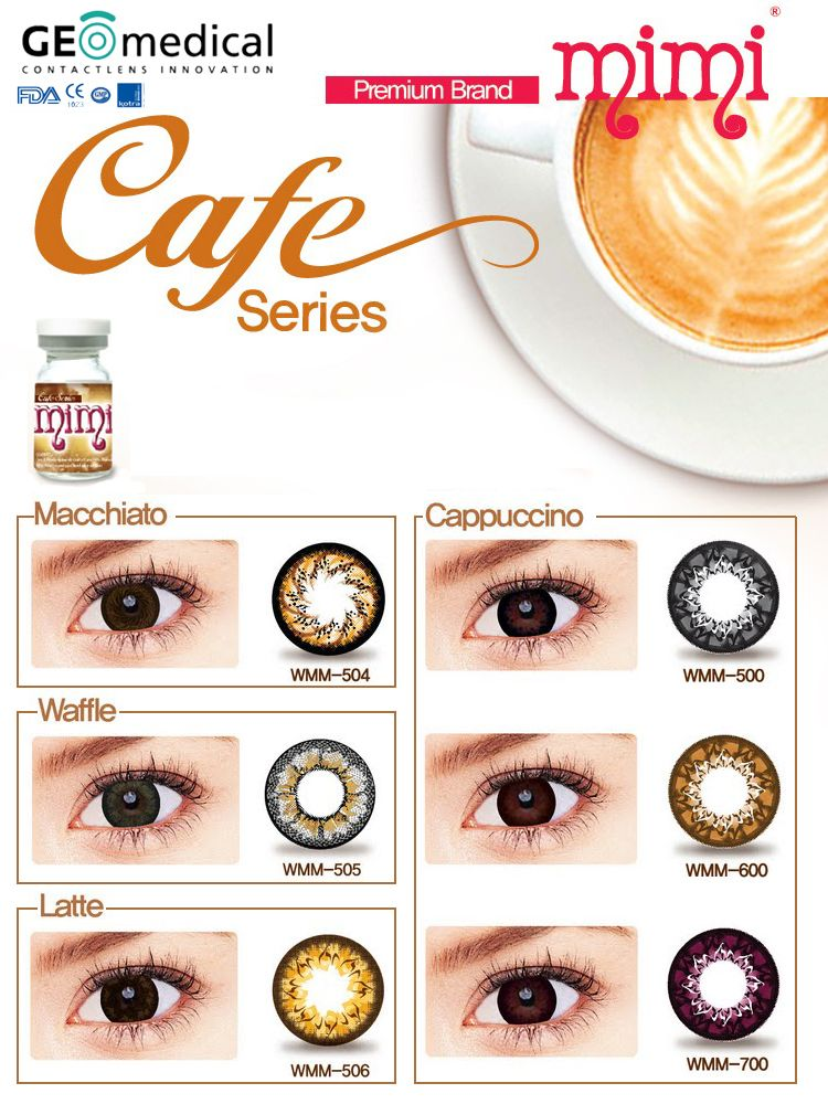 073c412aefc Cafe Mimi lens is another of Geo Medical inspirations in trendy colored  contact lenses. Cafe Mimi lenses has its exclusive design and color shades  that look ...