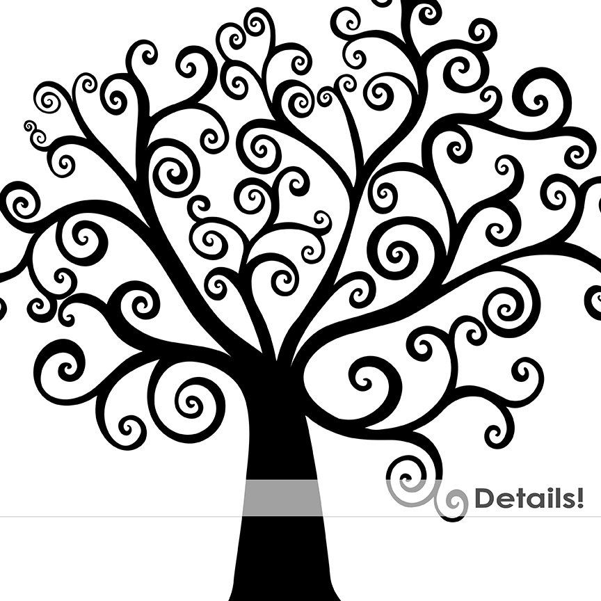 Whimsical Tree Clip Art, Tree of life Silhouette