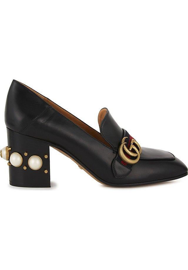692ffc716 GUCCI - Peyton pearl 75 leather mules