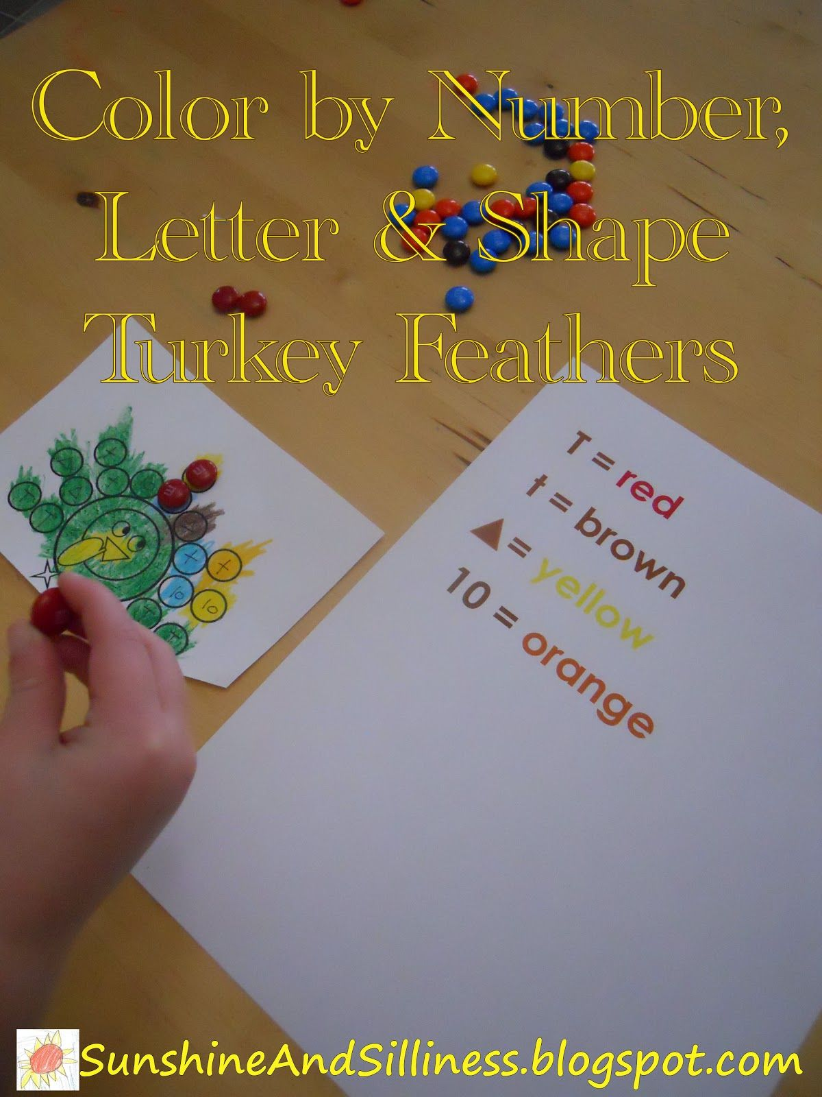 Sunshine And Silliness T Is For Turkey Color By Number