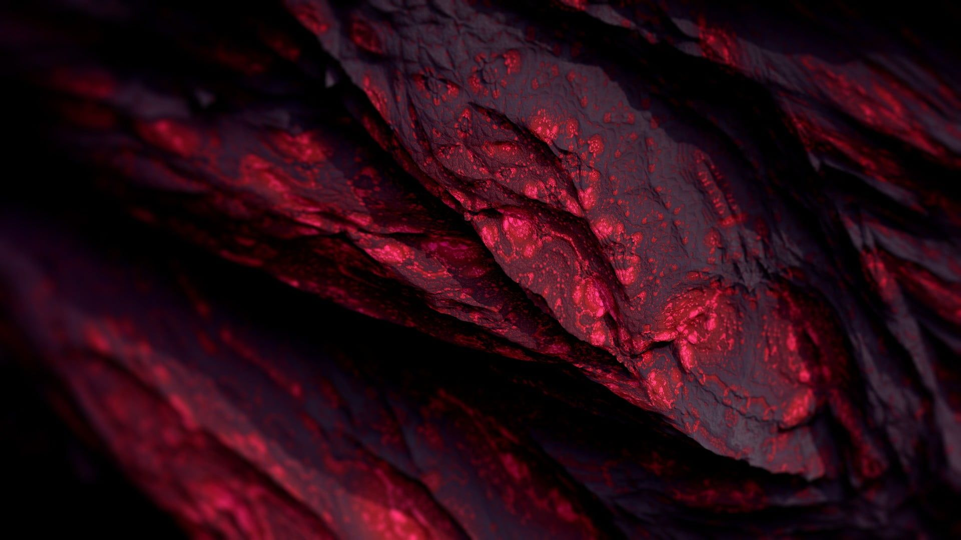 red wallpaper Procedural Minerals ...