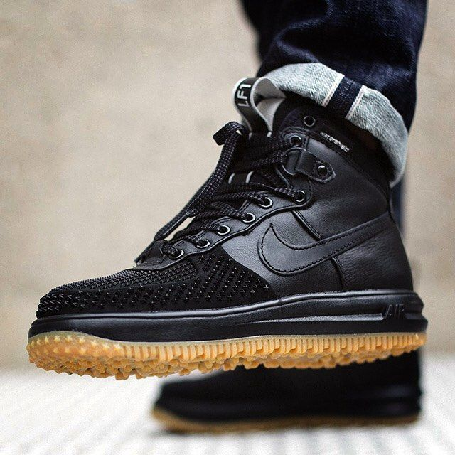 Nike Lunar Force 1 Duckboot Black Gum is now available just in time for the  colder months of winter. This winterized Nike Lunar Force 1 Duckboot Black  Gum