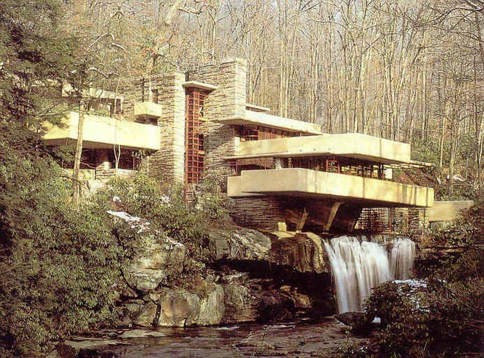 Casa da cascata pittsburgh estados unidos frank lloyd for Frank lloyd wright casa della prateria