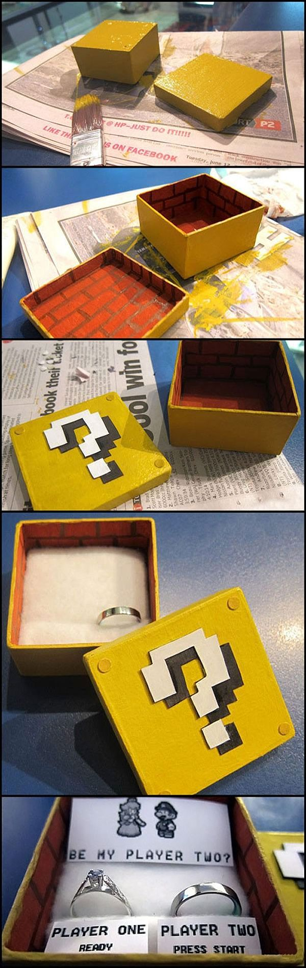 be my player two the geeky super mario marriage proposal. Black Bedroom Furniture Sets. Home Design Ideas