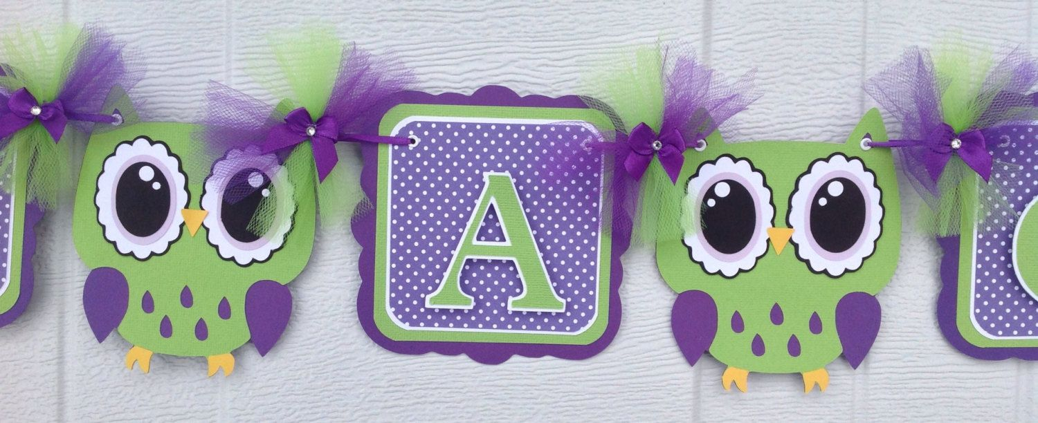 Purple Owl Baby Shower Decorations Topsimages