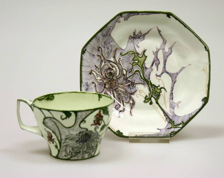 Porcelain Cup and Saucer. 1899-1900.
