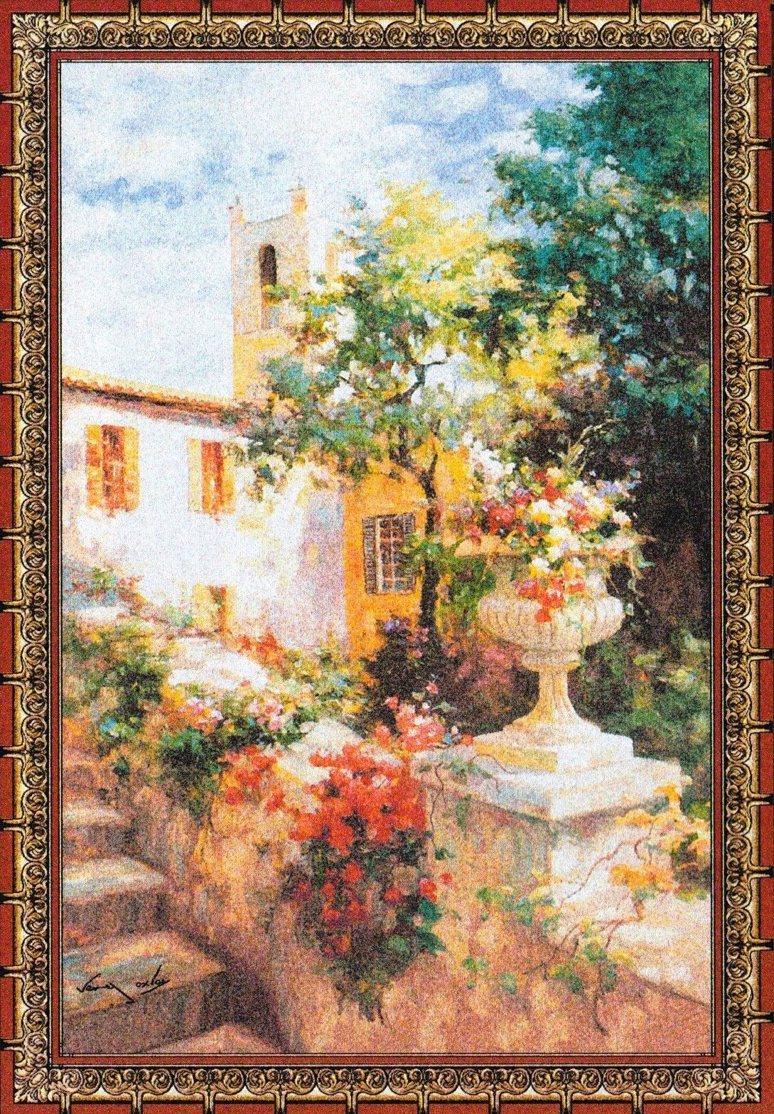 Floral Urn Tapestry 80H x 56W