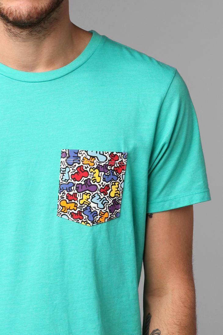 junk food keith haring pocket tee men 39 s fashion keith. Black Bedroom Furniture Sets. Home Design Ideas