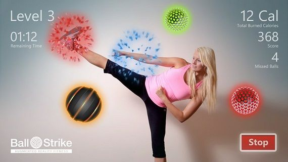 Ball Strike App Health And Fitness Apps Augmented Reality Apps Ball Exercises