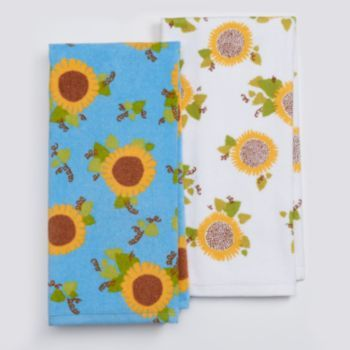 Celebrate Fall Together Home Grown Sunflower Kitchen Towel 2 Pk.