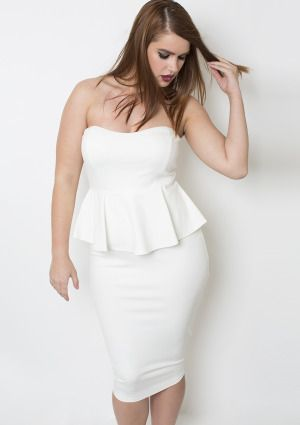 rebdolls winter white peplum dress back | beauty and fash on! in ...