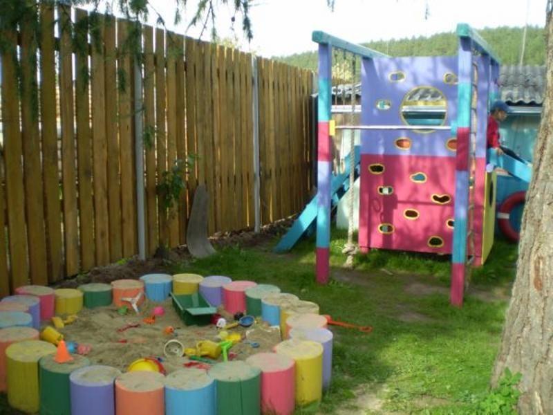 как обустроить детскую площадку на даче своими руками фото ...