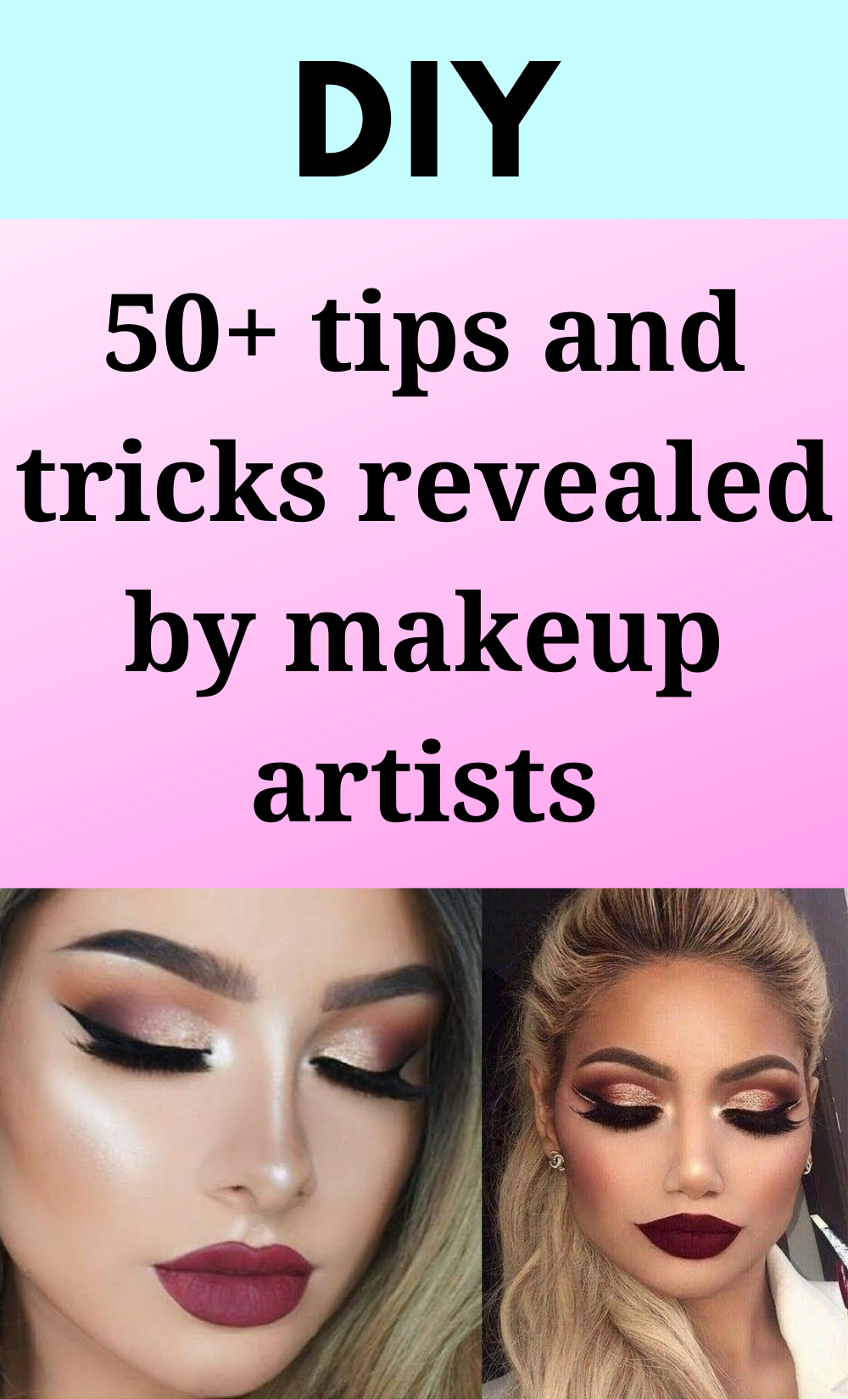 50+ tips and tricks revealed by makeup artists -   15 beauty Makeup hacks ideas