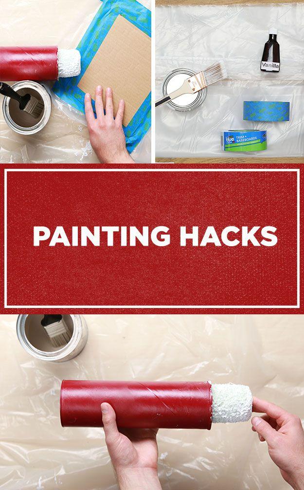 Painting Hacks Nifty Hacks Home Wall Painting Diy Painting