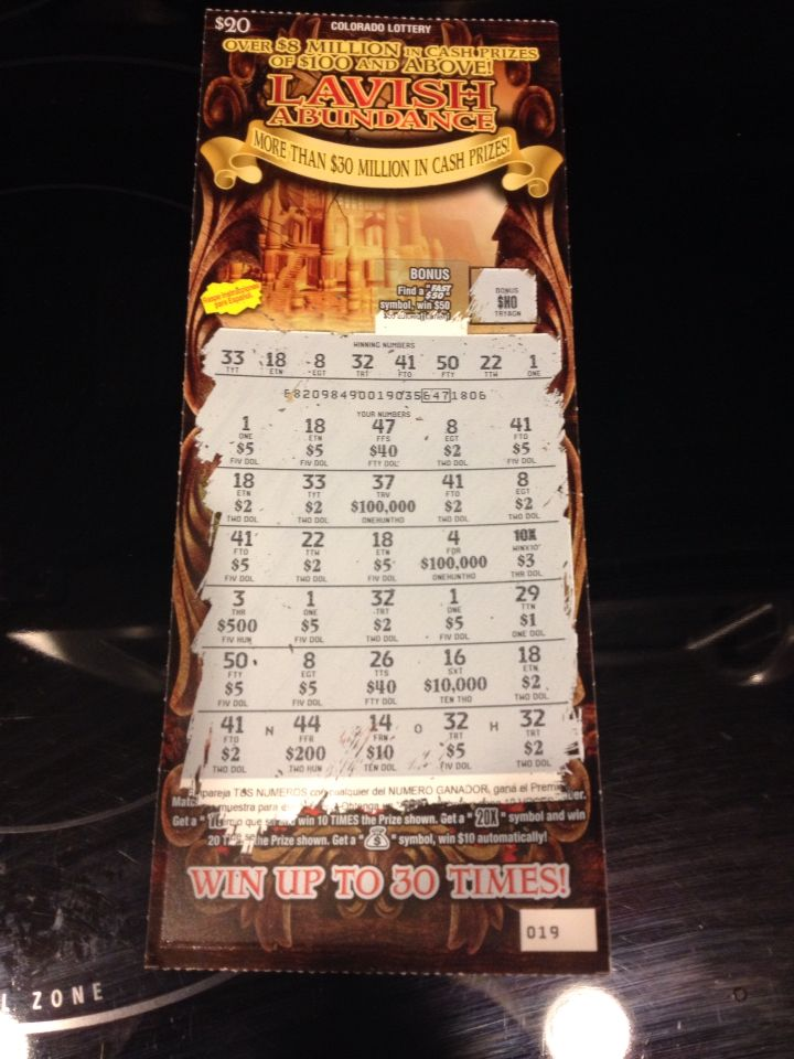 $100 winner! Woot!