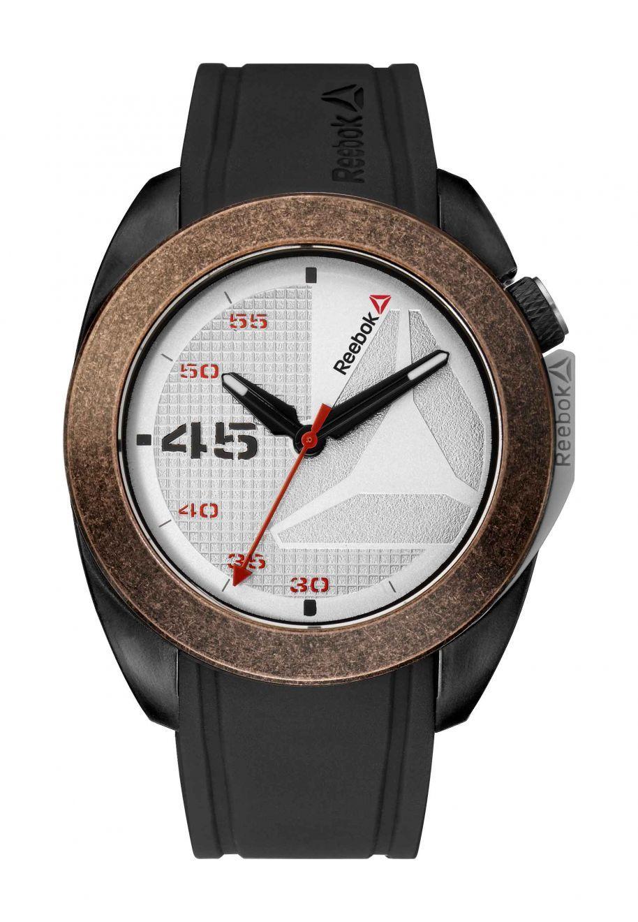 eec73ea1654e Reebok Sidekick Oxo Mens Analog Japanese-Quartz Bronze Watch with Black  Silicone strap - RD-SKO-G2-PBIB-1R