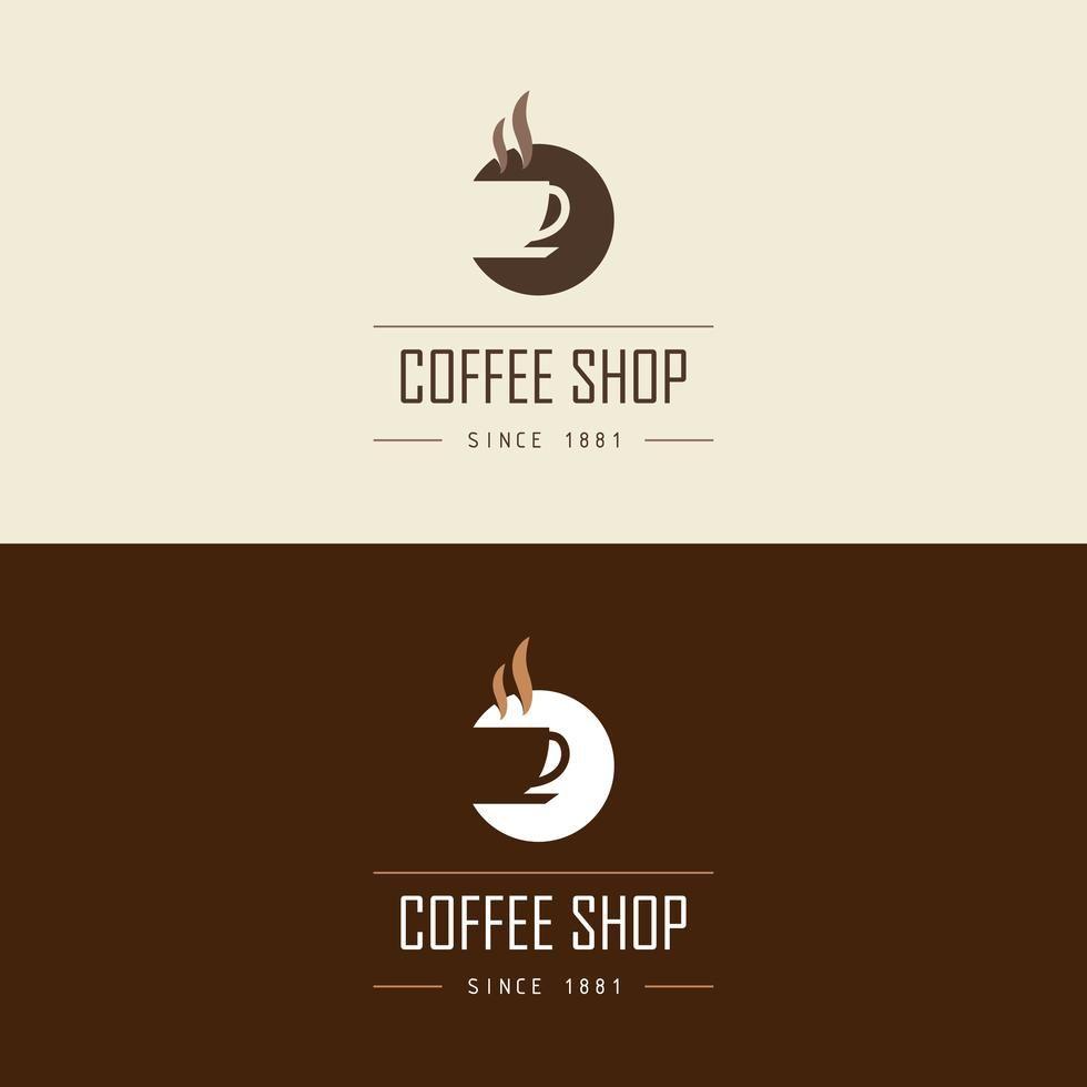 Coffee shop logo vector desain logo grafis desain