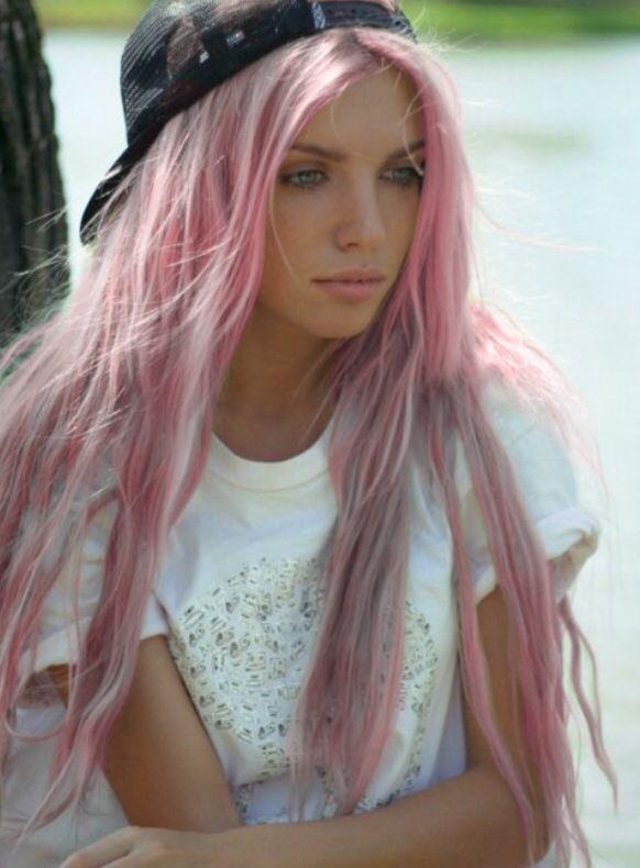 Tan Skin Pink Hair Sooo Pretty Pastel Hair Pastel Pink Hair Hair Styles