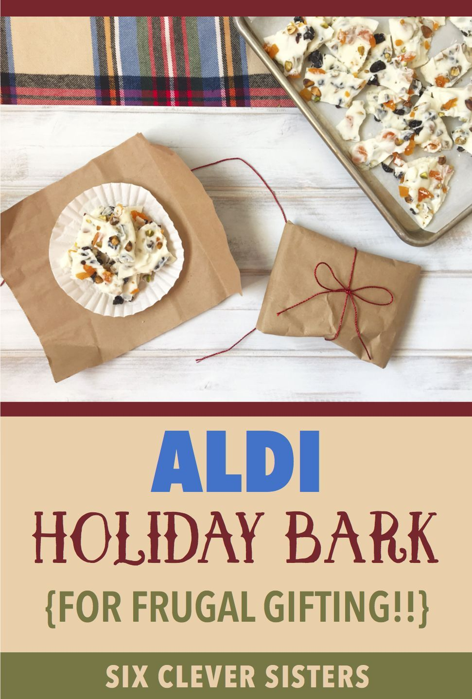 This handmade holiday bark make the perfect Christmas gift If youre looking for a great homemade gift idea try this easy recipe for white chocolate bark Its yummy and wor...